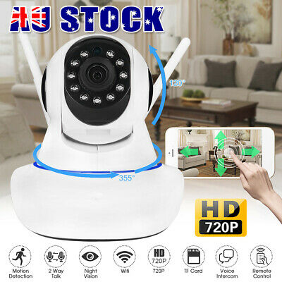 HD 1080P Dual Antenna WiFi P2P IP CCTV PTZ Wireless Security Camera Night Vision