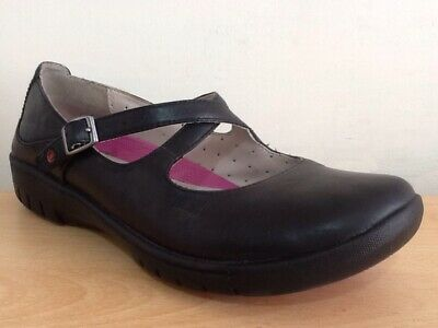 3a2d2dabb75f8 CLARKS Ladies Black Leather Unstructured Un Lady Mary Jane Shoes Size UK  4.5 D