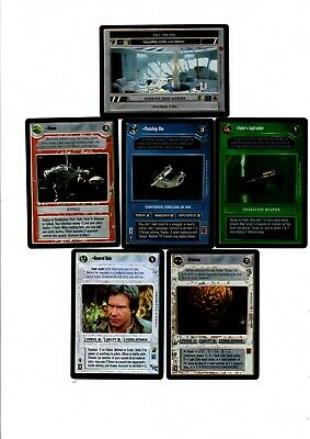 ENGLISH 11 CARDS STAR WARS General Solo - Punishing One - Vadpr's lightsaber
