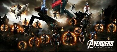 AVENGERS ENDGAME 40x18 VINYL POSTER banner Black Widow Captain Marvel FINAL Scen