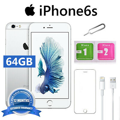 iPhone 6S 64GB PLATA SILVER ACCESORIOS 12 MESES DE GARANTÍA APPLE SELLADO