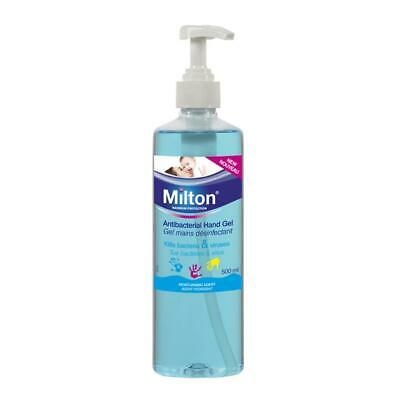 Milton Antibacterial Hand Gel 500ml ( SINGLE OR DOUBLE PACK AVAILABLE)
