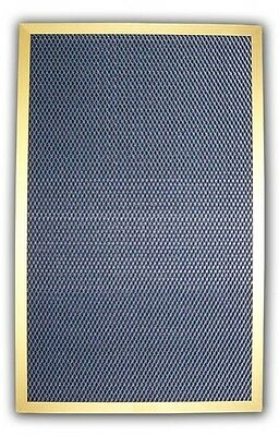 Electrostatic Furnace Filter GOLD solid metal frame HVAC AC 12 x 20 12x20 inches