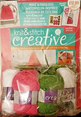 Knit and Stitch Creative HOLIDAY SPECIAL ISSUE =  + 6 balls wool = EAGLEMOSS