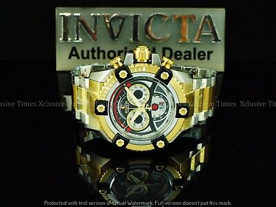 Invicta Men 63mm JOKER Arsenal Grand Octane Swiss Chrono TT Bracelet SS Watch