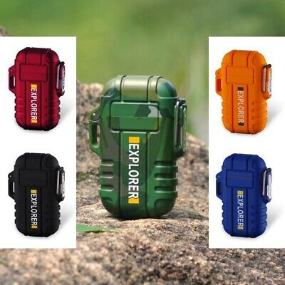Waterproof USB Plasma Lighter Double Arc For Outdoor Camping Sports Lighter