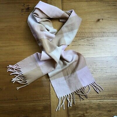 Rupert The Bear Style Scarf 100/% Pure Wool Made In Scotland