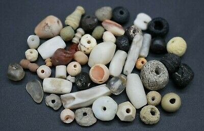 Mixed lot of ancient Egyptian and Roman beads
