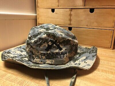 1a1e5cc04d2eb2 Chainsaw Lacrosse Military Camo Bucket Hat Sun Hat Fishing Hat Adjustable  Strap