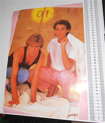 WHAM - GEORGE MICHAEL + ANDREW RIDGELEY 1984 Concert Publishing Uk poster