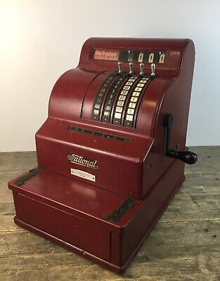 Vintage Cherry Red National Cash Register.