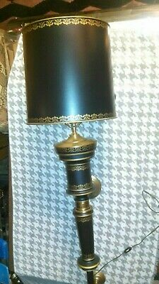 """Vintage Tole Painted S.weisbrod Philadelphia Pa Wall Lamp Light Shade Sconce 42"""""""
