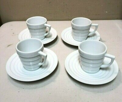 Frank Lloyd Wright Collection - Guggenheim by Krups - 8 Piece Cup & Saucer Set