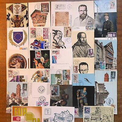France - 28 Postcards (25 Maxi Cards + 3 Others) 1960s - 1980s - ref242
