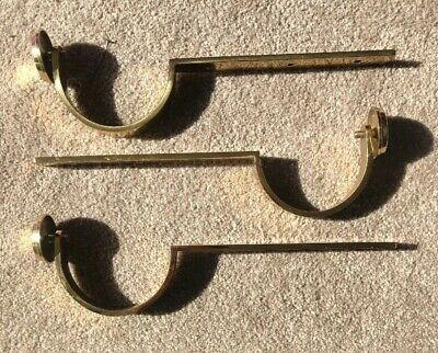 Curtain Pole Brackets Heavy Duty Solid Brass Set Of 3 For 80mm Pole Antique