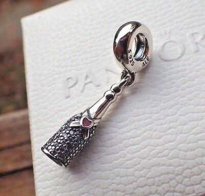 4f8eb4e51 Authentic Pandora Celebration Time Bead 792152cz Champagne Wine Bottle