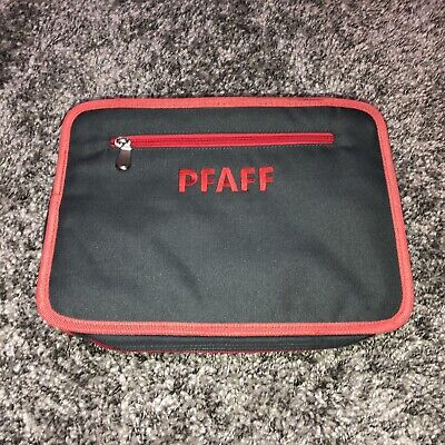PFAFF Sewing Soft Carrying Bag Case Zip Travel Gray Red Divider organizer