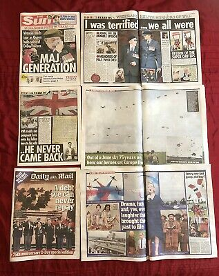 D-Day 75th Anniversary UK Mail Newspaper Clippings Cuttings 06/06 D-Day Landings
