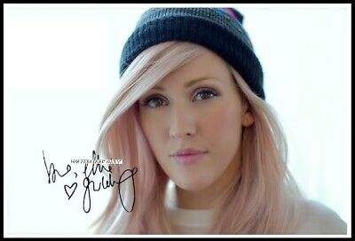 Ellie Goulding, Autographed, Cotton Canvas Image. Limited Edition (EG-2)