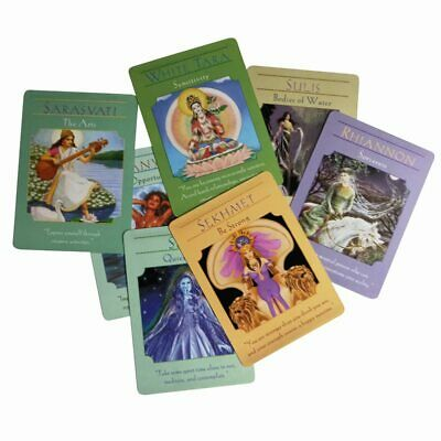 44pcs Tarot Cards Deck Full English Goddess Oracle Cards Guidance Divination