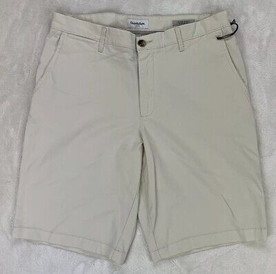 73d129b02a Goodfellow & Co 10.5 Inch Flat Front Shorts Light Khaki 5 Pocket Stretch  Size 34
