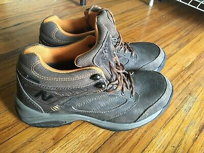 759cfea991658 NEW BALANCE 1569 Gore-tex Brown Leather Ankle Lace Up Hiking Boots ...
