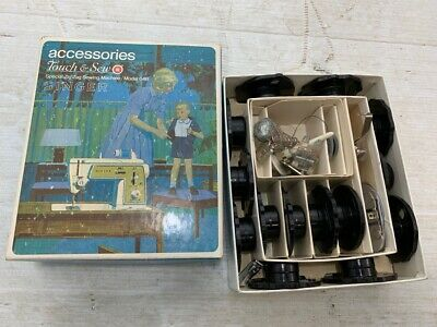 Vintage Singer Touch and Sew Model 648 Accessories Box 171128 with Accessories