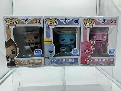 Funko Pop Boo Berry Count Chocula Franken Berry Monster Cereals Ad Icons 3 Pack