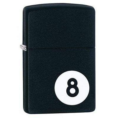 Zippo Windproof Lighter, Black Matte With 8-Ball, 8 Ball, 28432, New In Box