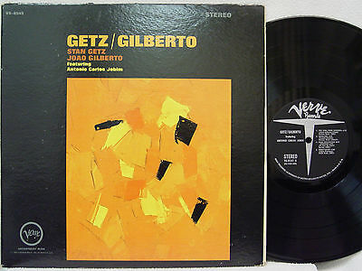 STAN GETZ - Getz/Gilberto LP (1st US STEREO Issue on VERVE, RE2/RE4 Mix)