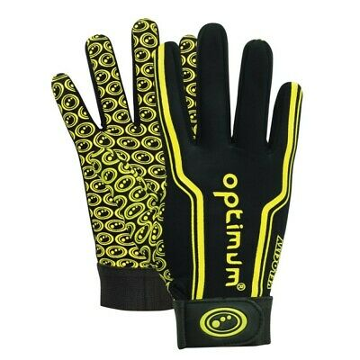 ■ ­Optimum Velocity Thermal Rugby Gloves, Yellow Black Boy Small