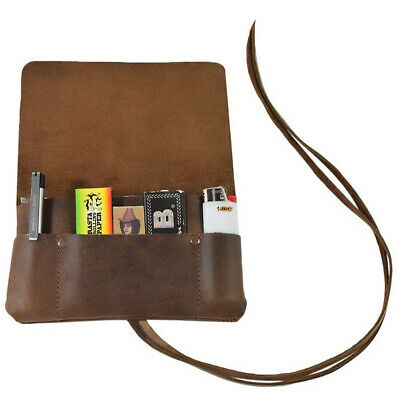 Tobacco Pouch Smoking Case Genuine Leather Personalised Handmade Gift