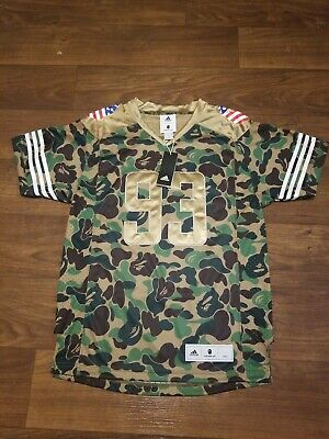 b10bf7183 BAPE X Adidas SB Super Bowl 2019 CAMO JERSEY Medium Brand New