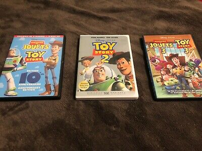 Toy Story Trilogy DVD Movies