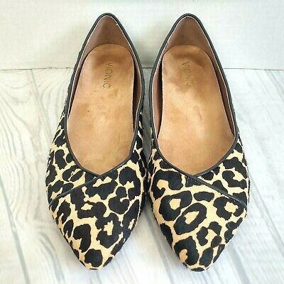 d735c3642f44 Vionic Ballet Flats Womens Shoe Size 9.5 Leopard Print Calf Hair Pointed  Caballo