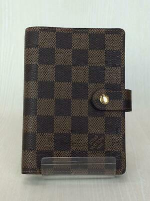 LOUIS VUITTON Damier Agenda MM Day Planner Notebook Cover Case R20701 Used Ex++