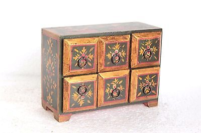 6 Drawer Chest New Antique Wooden Handpainted Home Decor W-14