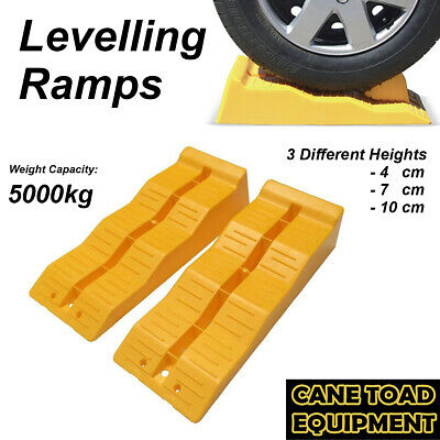 2x Leveling Ramps for Caravan RV parts accessories steps fan