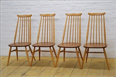 vintage Ercol dining chair chairs set of 4 Goldsmith blonde elm beech UKDELIVERY