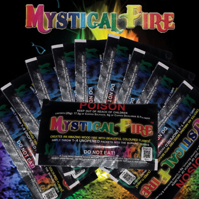 Mystical Fire 25g Campfire Colourful Flames 10 Pack
