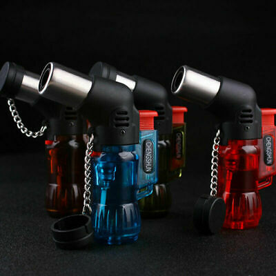 Butane Jet Torch Cigarette Windproof Lighter Random Color Fire Ignition Burner