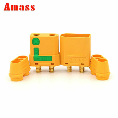 2Pairs Amass XT90S Connectors Male Female Plugs Anti Spark Cover RC Lipo Battery