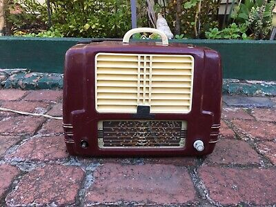 1960s HMV-HIS MASTERS VOICE LITTLE NIPPER 225779 VALVE RADIO (PARTS NOT WORKING)