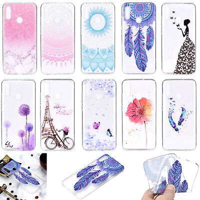 Ultra Thin TPU Clear Pattern Silicone Back Case Cover For Huawei P30 Honor 10 8X