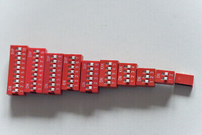 2.54mm Dip Switch 1Way to 10Way For PCB mounting SPST