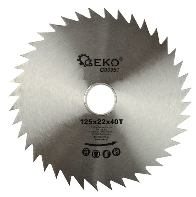 Circular Saw Blade For Wood 125 mm x 22 mm x 40 T  G3