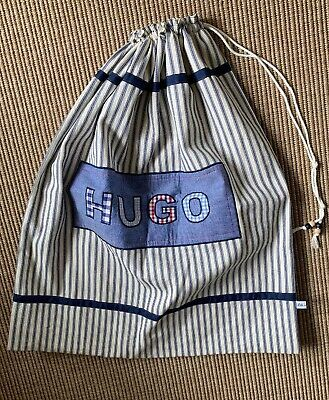 Large Handmade Drawstring Bag From Etsy (Lili Miller) 'Hugo' GREAT BABY GIFT