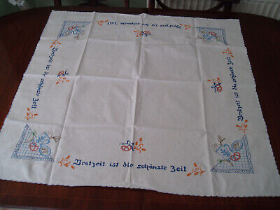 """EMBROIDERED TABLE CLOTH 33"""" x 31"""""""