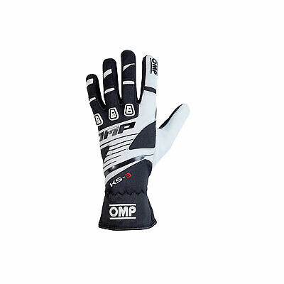 OMP KS-3 MY18 Gloves black/white size S NEW