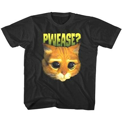 Puss in Boots PWEASE Kids T Shirt Cartoon Cat Movie Boys Girl Baby Youth Toddler
